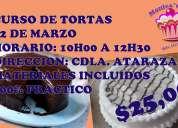 Curso de tortas de : chocolate  piÑa