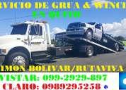 Servicio de grÚas en la av.simon bolivar quito norte y sur/  winchas autocargables las 24-horas