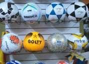 Balones de futbol y volley de diversas marcas y colores