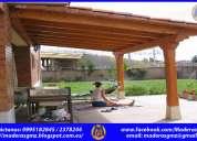 Pérgolas de madera gmz-casas de campo de madera-casas de madera en ecuador-jardineras-tumbaco