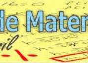 Clases personalizadas de matematicas-fisica-quimica para los examenes remediales