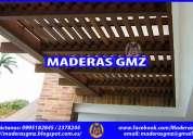 Pérgolas de madera gmz-celosías-jardin-muebles de madera-el quinche-yaruqui-calderón