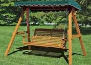 vendemos juegos infantiles en madera para jardines parques