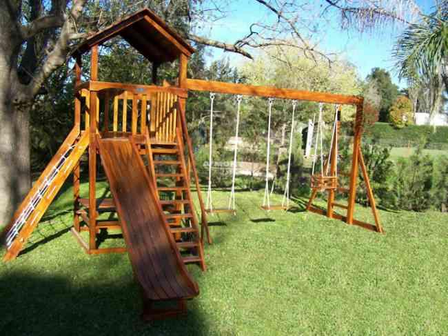 Buscas juegos infantiles en madera para jardines y parques - Casa para jardin infantil ...