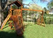 Buscas juegos infantiles  en madera para jardines y parques