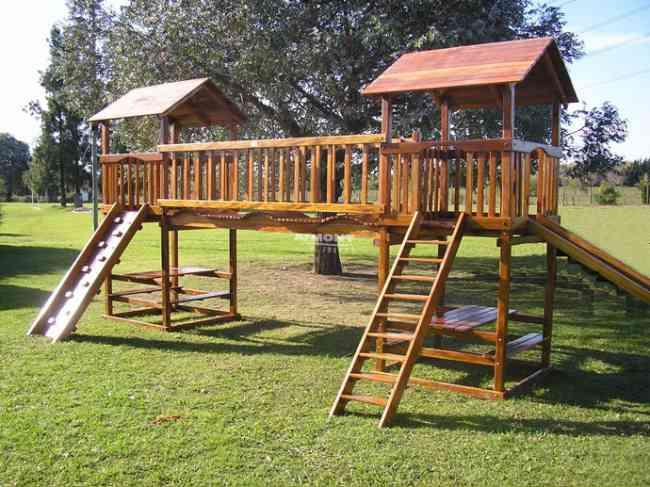 buscas juegos infantiles en madera para jardines y parques quito doplim