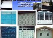 Mecánica industrial, la magia en hierro, cerrajería, puertas metálicas, mixtas, portones,