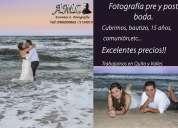 FotografÍa y video para bodas, bautizos, etc..
