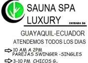 Sauna spa luxury gay swinger
