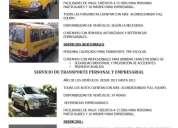 Servicio de transporte escolar, empresarial y personal.