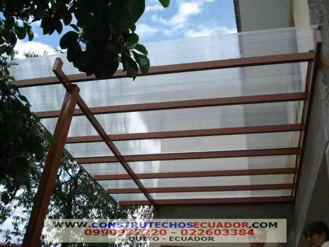 Pergolas en aluminio maderado madera hierro y techos - Hierro y aluminio ...