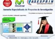 Proyectos de investigación, tesis