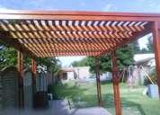 Diseñamos pergolas glorieta techos y trresas