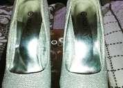 zapatos plateados americanos