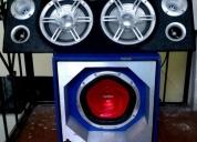 Audio para auto, bajo sony xplod de 1300w