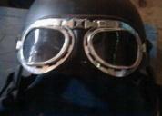 Excelente casco, gafas y botas para harley davidson