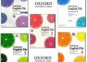 Excelente curso  oxford american english file coleccion completa