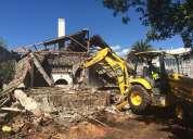 Desbanques, desalojos de tierra y escombros, limpieza de terrenos, demoliciones, derrocamientos