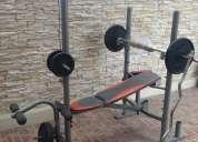 gimnasio completo barras y discos