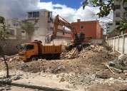 Desbanques, excavaciones, derrocamientos de casas, limpieza de terrenos, desalojos, adoquinados