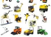 alquiler de maquinaria para la construccion liviana y compacta