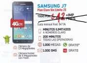 Samsung j7 por $32 mensuales
