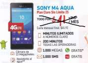 Sony m4 aqua por $31 mensuales