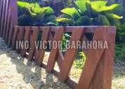Jardinera diseño rombo