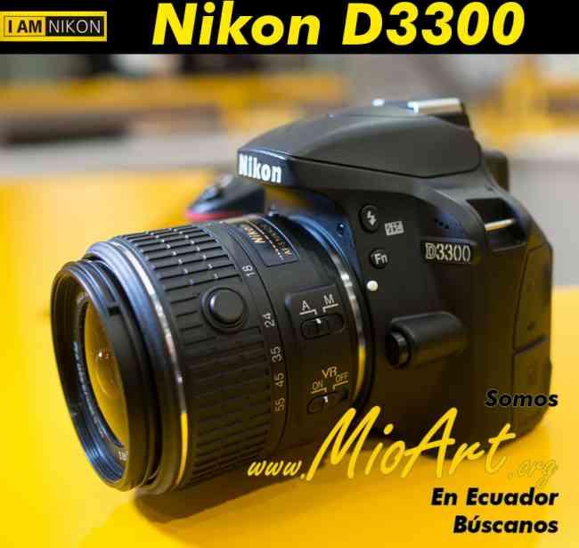 Nikon D3300 CMOS 24.2 MP ISO 12800 RAW Limpieza automática Camaras Profesionales Todo Ecuador Quito