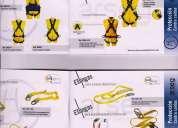 Arnes de 1,3,4 argollas, lineas de vida, capacitaciones an alturas seguridad industrial epps.