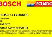 BaterÍas bosch y ecuador