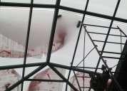 Pergolas techos cubiertas con vidrio templado o policarbonato