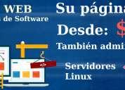 Diseño de paginas web y soluciones informaticas