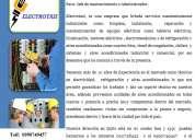 Soluciones tÉcnicas en electricidad y refrigeracion y aires acon