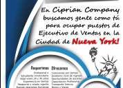 Ciprian company busca ejecutivo de ventas new york
