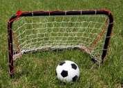 Varias medidas  en redes para futbol
