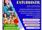 Residencia estudiantil 4 cupos disponibles solo señoritas