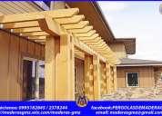 Casas de madera, jardín, muebles de madera, jardines- ibarra-loja-babahoyo-quito