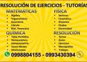 Matematicas, fisica, quimica 0993430394, tareas, tutorias a domicilio.