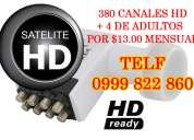 Tv satelital gratis 390 canales hd