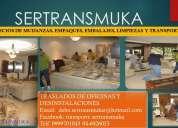 Servicio de transporte y mudanzas a nivel nacional sertransmuka