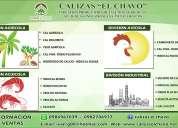 Cal hidratada, cal viva, sulfato de calcio, carbonato de calcio, zeolita natural, yeso agrícola.