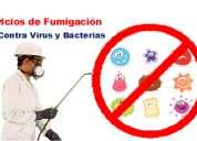 Fumigación saneamiento ambiental contra gripe común, h1n1 y  demás, servicio a domicilios y empre