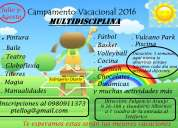 Campamento vacacional multidisciplina 2016