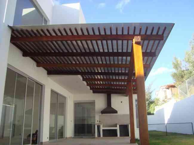 Superpromocion pergolas y techos con policarbonato desde - Techos para pergolas de madera ...