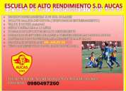 Escuela de futbol s.d. aucas