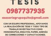 Asesoramos proyectos de tesis, tesinas, tesis, monografías, correcciones…