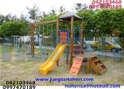 Juegos infantiles plásticos toboganes noheri s.a