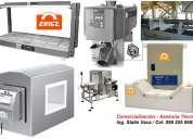 Lineas industriales profesionales de detectores de metal.