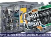 Reparación de compresores de tornillo con aceite